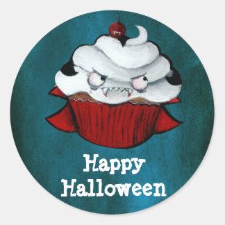 Vampire Count Cupcake Round Stickers