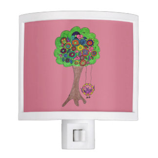 Vampire Donut Tree & Bat Night Light