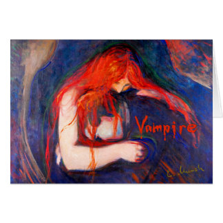 Vampire Edvard Munch Card