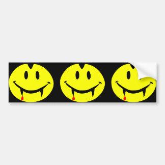 vampire emoji dracula bumper sticker