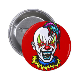 Vampire Evil Clown 2 Inch Round Button