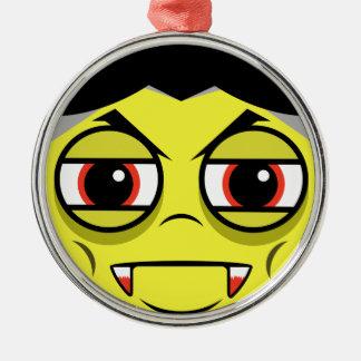 Vampire Face Metal Ornament