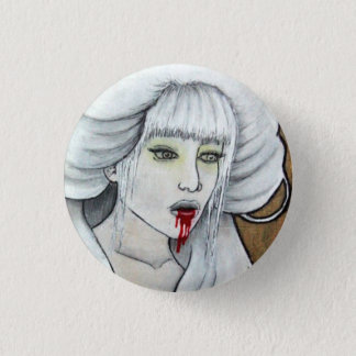 Vampire girl - Hematemesis - dark horror art 1 Inch Round Button