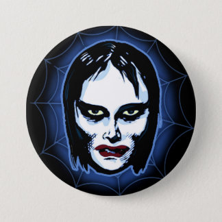 Vampire Girl (horror) 3 Inch Round Button