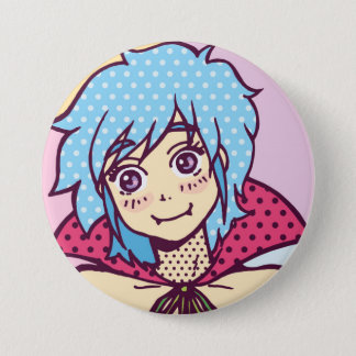 vampire girl kawaii 3 inch round button