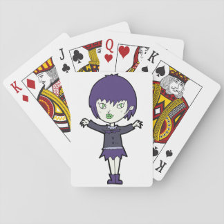 Vampire Girl Playing Cards