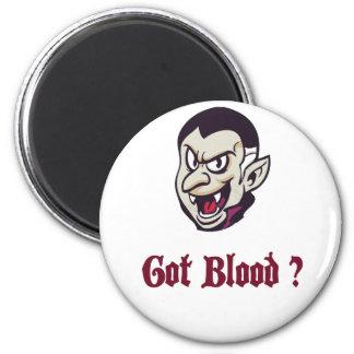 Vampire Got Blood Design 2 Inch Round Magnet