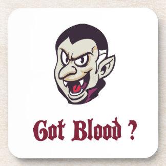 Vampire Got Blood Design Drink Coaster