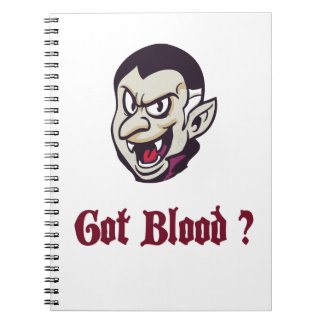 Vampire Got Blood Design Notebook