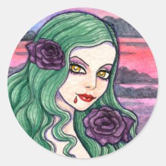 Vampire Gothic Sticker by Ann Howard