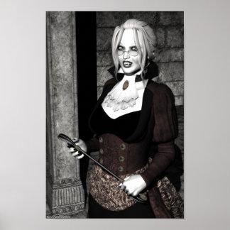 Vampire gothique de maîtresse macabre poster