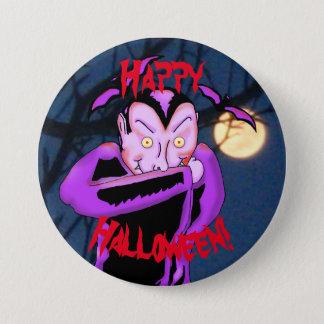 Vampire Halloween Button