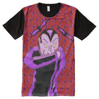 Vampire Halloween Panel T-Shirt