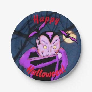 Vampire Halloween Paper Plates