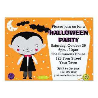 "Vampire Halloween Party 5"" X 7"" Invitation Card"