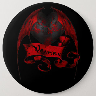 Vampire Heart 6 Inch Round Button