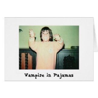 VAMPIRE IN PAJAMAS GREETING CARD