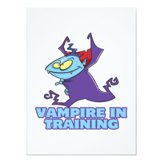 vampire in training funny cartoon invitation