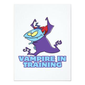 "vampire in training funny cartoon 6.5"" x 8.75"" invitation card"