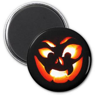 Vampire Jack-O-Lantern 2 Inch Round Magnet