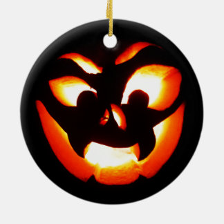 Vampire Jack-O-Lantern Ceramic Ornament