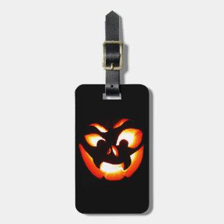 Vampire Jack-O-Lantern Luggage Tag