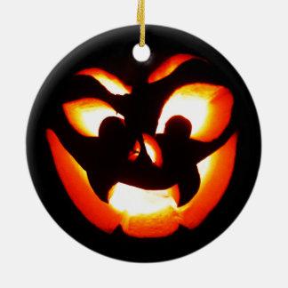 Vampire Jack-O-Lantern Round Ceramic Ornament