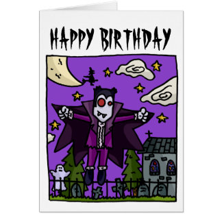 Vampire Kids Birthday Card