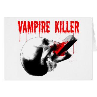 Vampire Killer Greeting Card