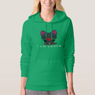 Vampire Kitty-front::Smart people go Vegan - back Hoodie