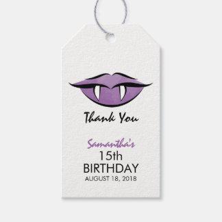 Vampire Lips Goth Birthday Thank You Gift Tag