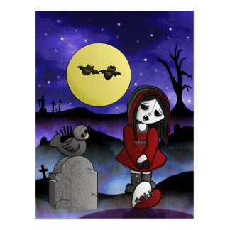 Vampire Lost Love Blank customizable headstone Postcard