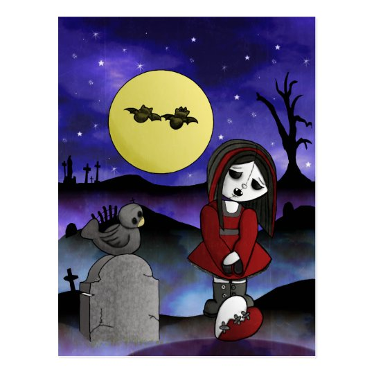 Vampire Lost Love Blank customizable headstone Postcard