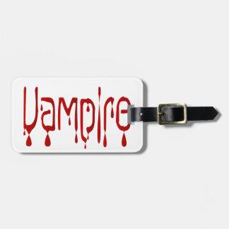 Vampire Luggage Tag
