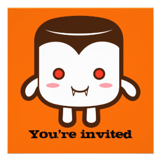 Vampire marshmallow invite