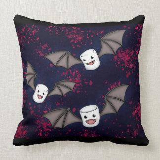 Vampire Marshmallows Halloween Throw Pillow