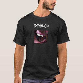 Vampire men's DayWalker with fangs and blood dropl T-Shirt