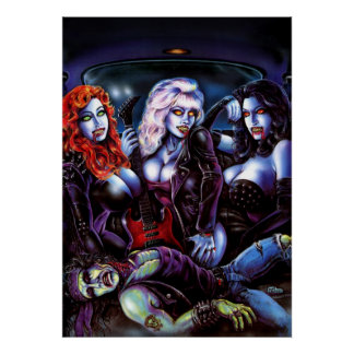 Vampire Metal Girls Poster