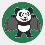 Vampire Panda Classic Round Sticker