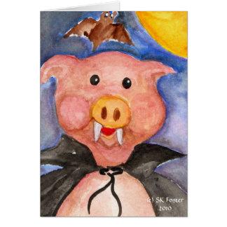 Vampire Pig Card