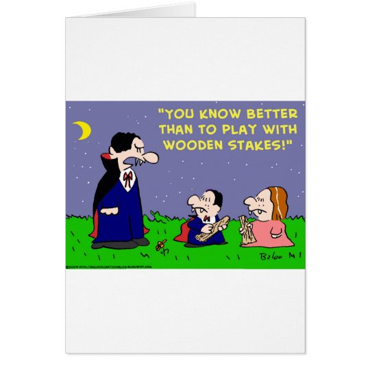 VAMPIRE PLAY WITH WOODEN STAKES CARD