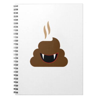 Vampire Poop Emoji Funny Halloween Notebooks