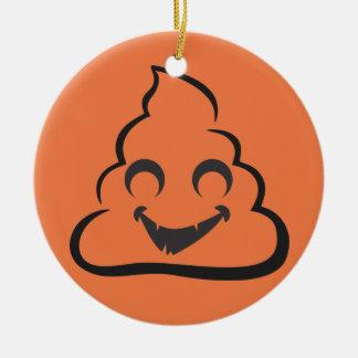 Vampire Poop Emoji Halloween Ceramic Ornament