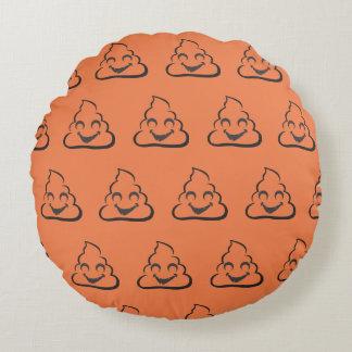 Vampire Poop Emoji Halloween Round Pillow
