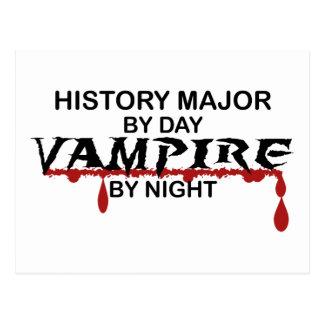 Vampire principal d'histoire par nuit carte postale