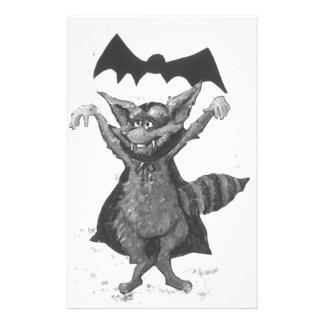 Vampire Raccoon Stationery