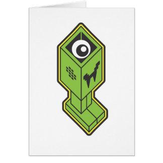 Vampire Robot on White Card