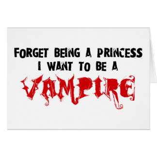 Vampire Romance Addict Card