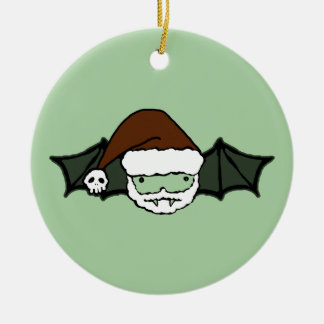 Vampire Santa Bat Ceramic Ornament