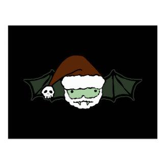 Vampire Santa Bat Postcard